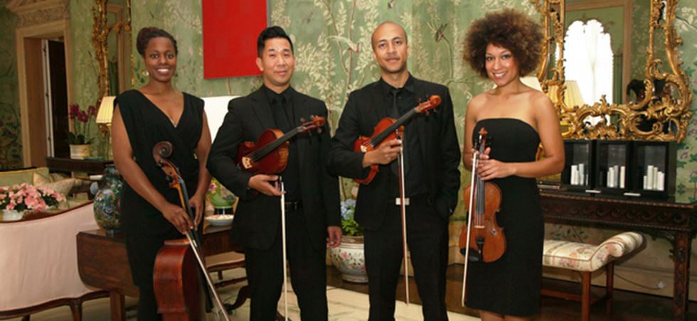 String Quartet Reception For Michelle Obama US Ambassador's Residence. Photo By Roland Kemp