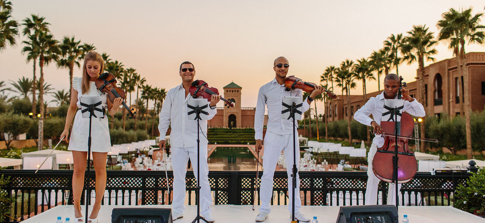 Chill Out Set Marrakech Wedding