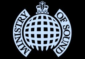Ministry of Sound Logo white on black